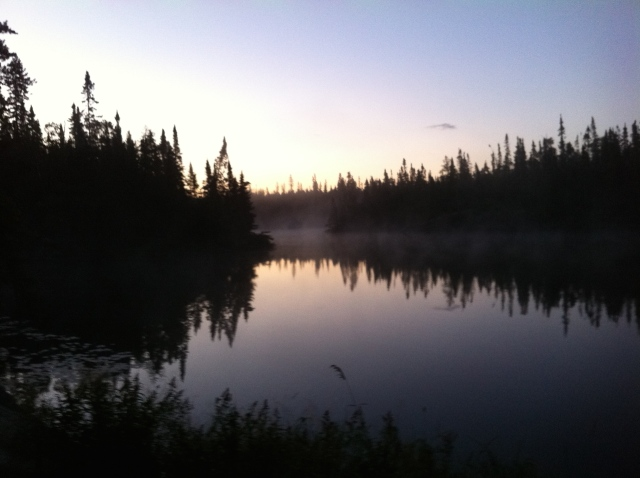 Sunrise on Snipe Lake