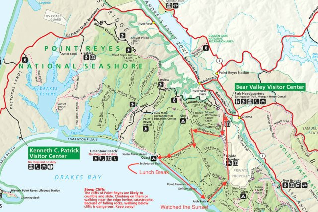Point Reyes Edited Map