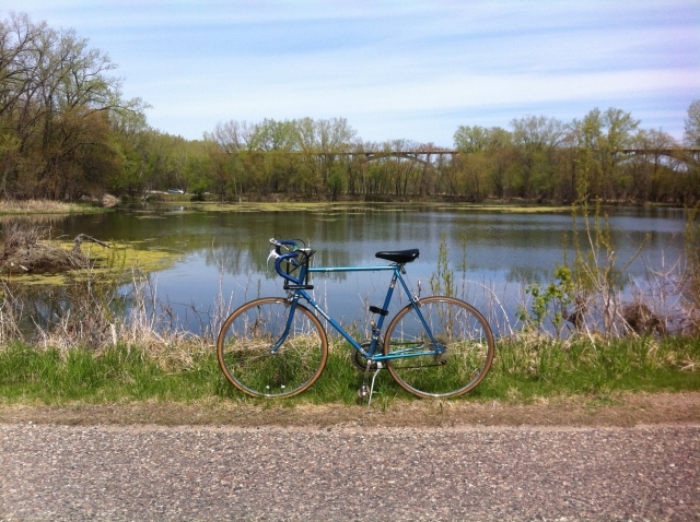 Bike selfie by the Snelling ponds