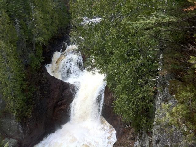 The infamous Devil's Kettle Falls