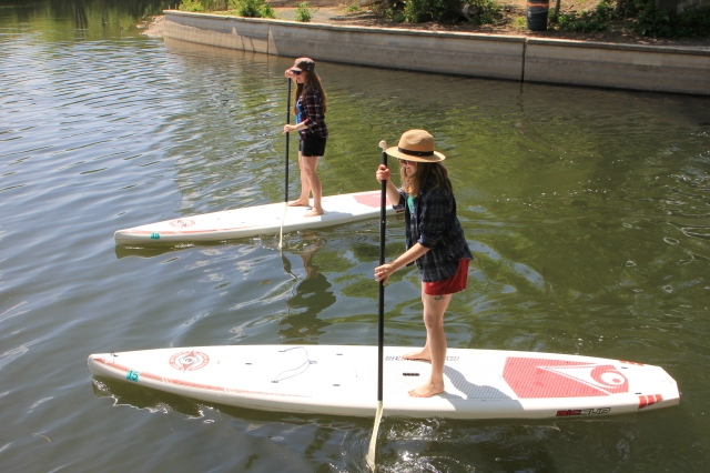 Paddle Boarding the Chain of lakes