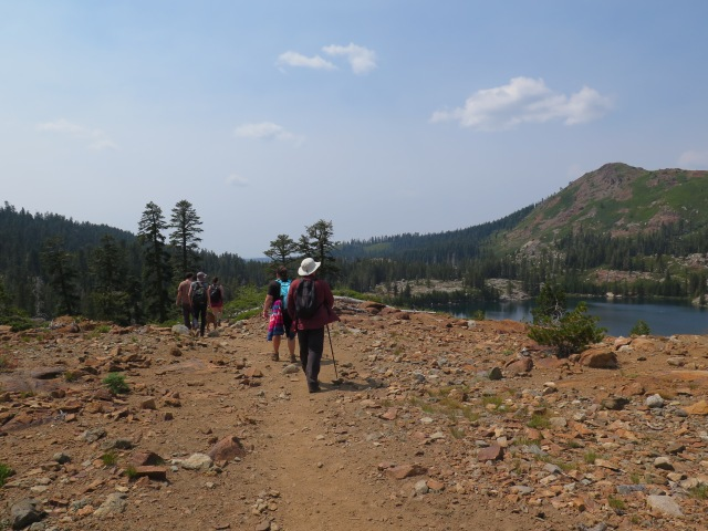 Hiking near Island Lake