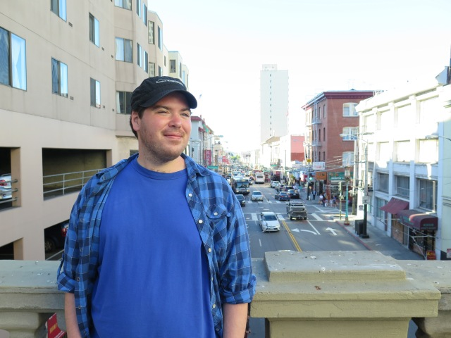My bro posing in front of China Town