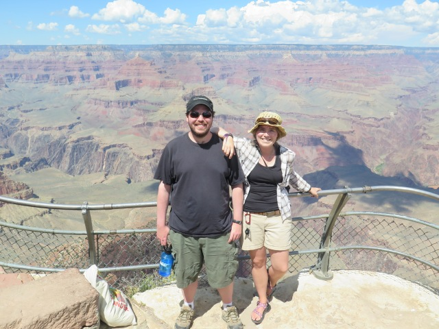 Jamie and posing at the grand canyon