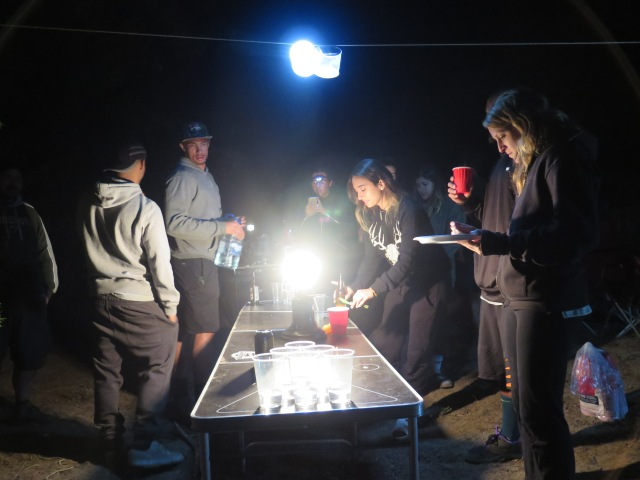 Beer pong in the woods?!
